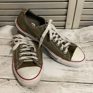 Men's Converse Low Tops Olive Army Green Sz 9